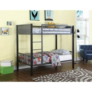 Link to Simona Black and Gunmetal Twin over Twin Bunk Bed Similar Items in Twin over Full Bunk Beds