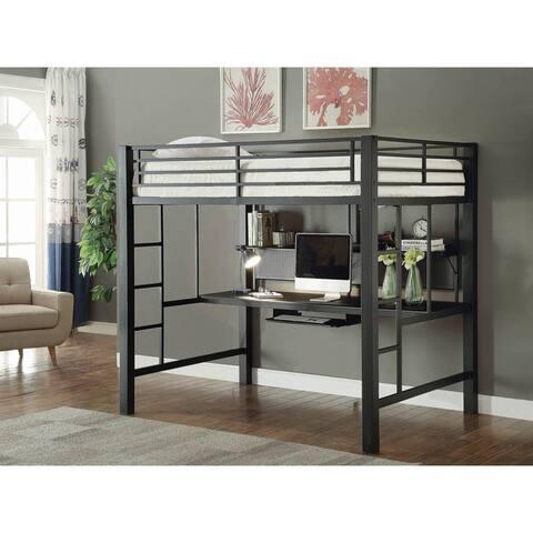 Ranier Black Full Workstation Loft Bed