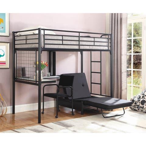 Everton Black Twin Workstation Loft Bed