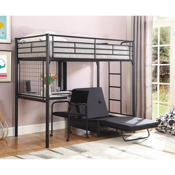 Everton Black Twin Workstation Loft Bed