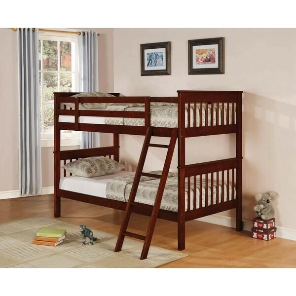 Bronwyn Chestnut Twin over Twin Slat Bunk Bed