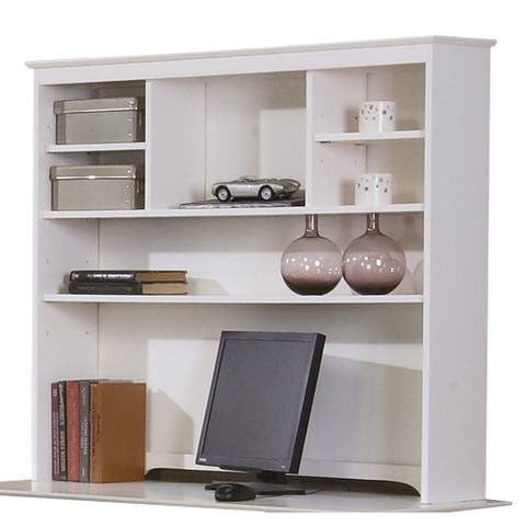 Waverly White Hutch with 6 Open Compartments