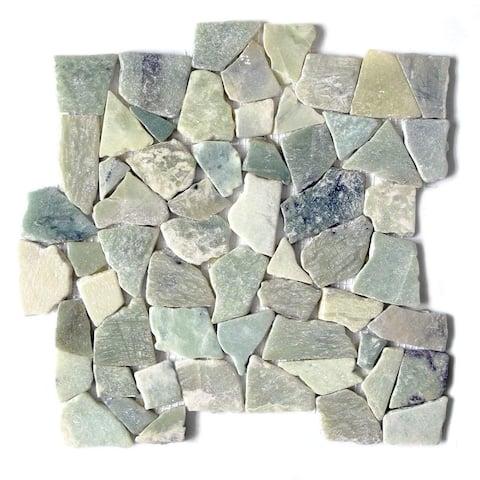 "Jade Stone Interlocking Tile - Jadeite 12""x12"" (5-Sheets)"