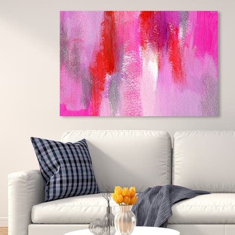 Oliver Gal 'Hot Pink' Abstract Wall Art Canvas Print - Pink