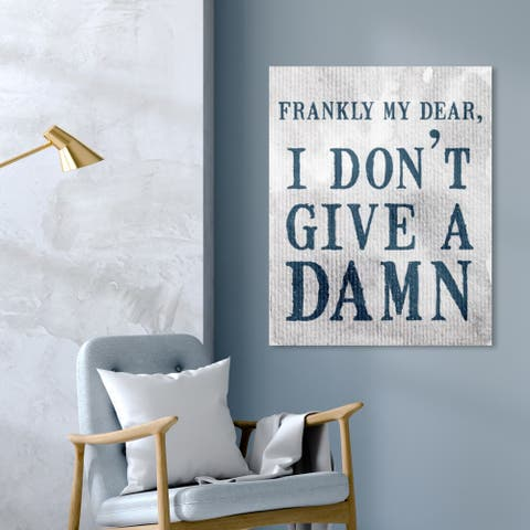 Oliver Gal 'How I Always Feel' Typography and Quotes Wall Art Canvas Print - Blue, Gray