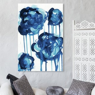 Oliver Gal 'Beautifully Cloudy Day' Abstract Wall Art Canvas Print - Blue, White