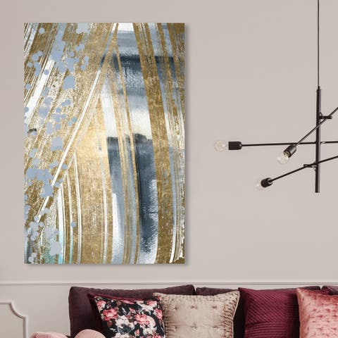 Oliver Gal 'Chosen One' Abstract Wall Art Canvas Print - Gray, Gold