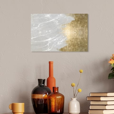 Oliver Gal 'Light Symphony' Abstract Wall Art Canvas Print - Gold, Gray