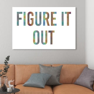 Oliver Gal 'Figure It Out Quote' Typography and Quotes Wall Art Canvas Print - Green, White