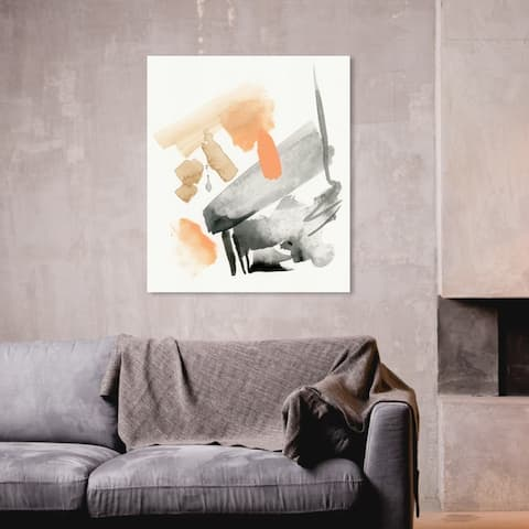 Oliver Gal 'Strings' Abstract Wall Art Canvas Print - Orange, Black