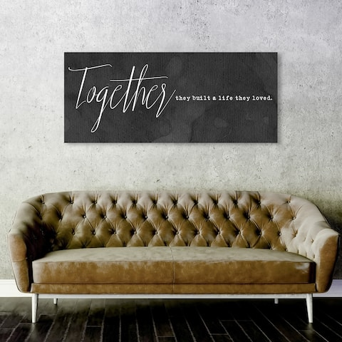 Oliver Gal 'Together they built a life' Typography and Quotes Wall Art Canvas Print - White, Black