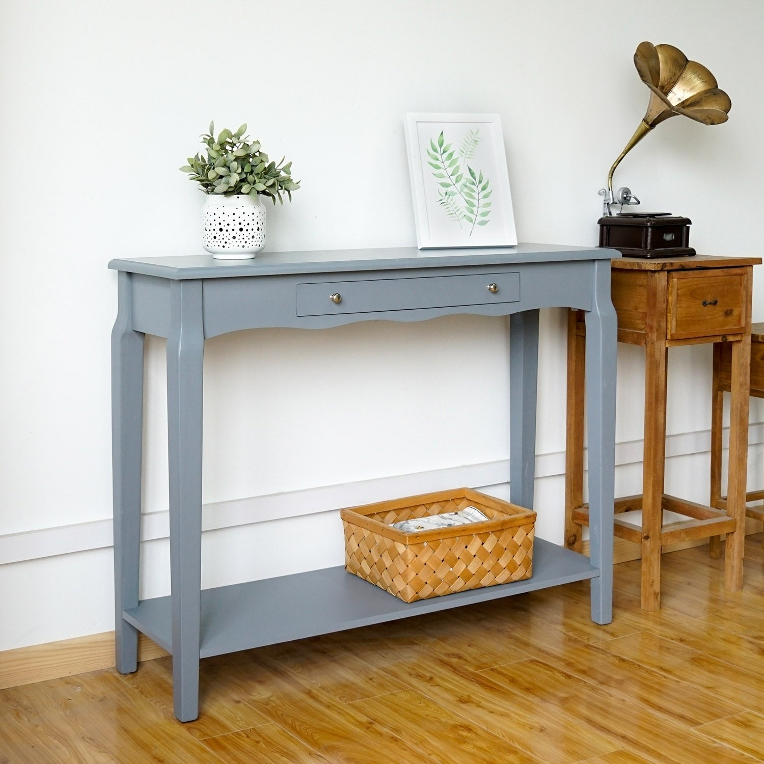 Kinbor Console Table Entryway Hall Sofa Side With Drawer And Shelf Heritage End