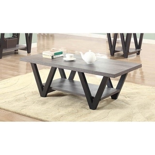 Link to Alexia Black and Grey Angled Leg Coffee Table Similar Items in Living Room Furniture