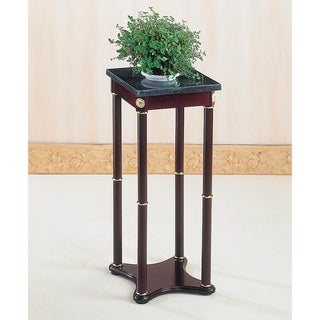 Elna Merlot and Green Marble Top Plant Stand