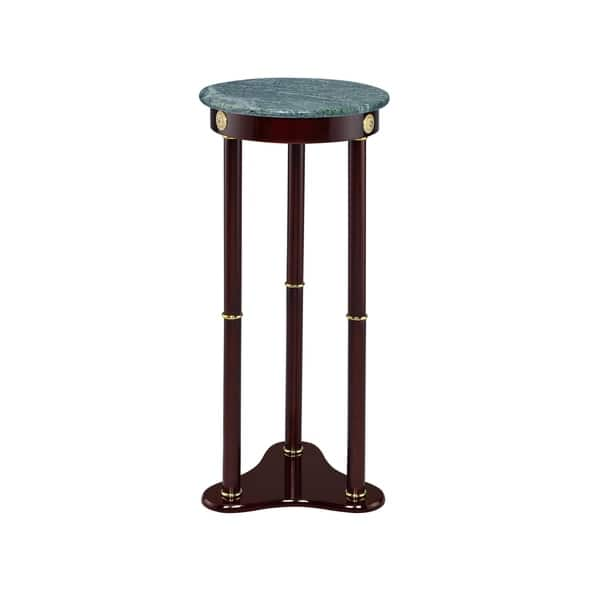 Elna Merlot And Green Marble Top Round Plant Stand On Sale Overstock 28636461