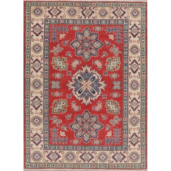 "Pakistani Kazak Oriental Traditional Hand-Knotted Wool Area Rug - 6'9"" x 4'11"""