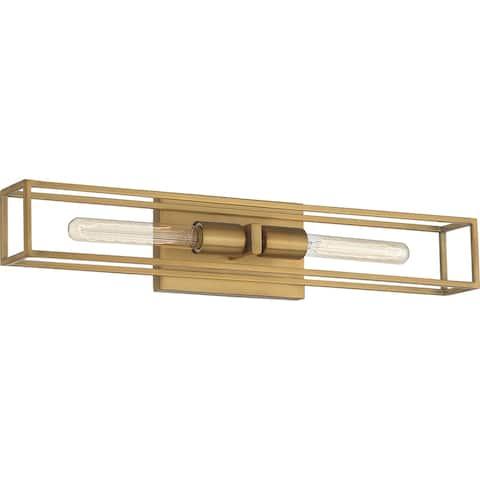Quoizel Leighton Weathered Brass 2-light Bath Light