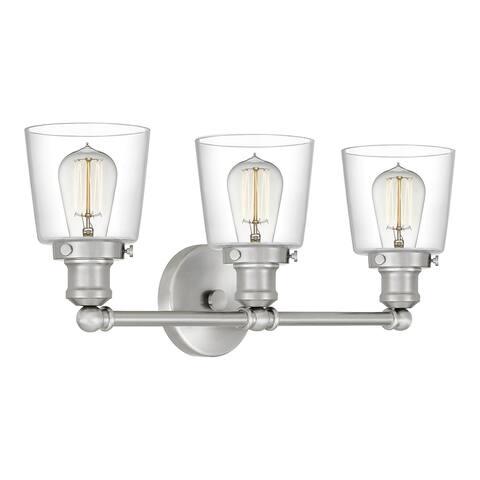 Quoizel Union 3-light Clear Glass Bath Light