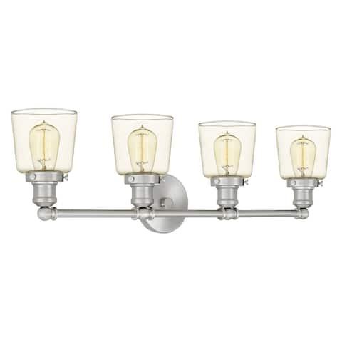 Quoizel Union Brushed Nickel 4-light Bath Light