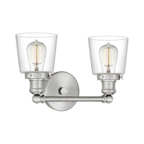 Quoizel Union 2-light Clear Glass Bath Light