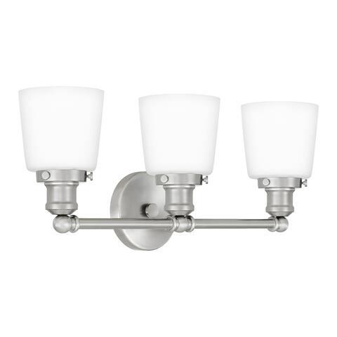 Quoizel Union 3-light Opal Etched Glass Bath Light