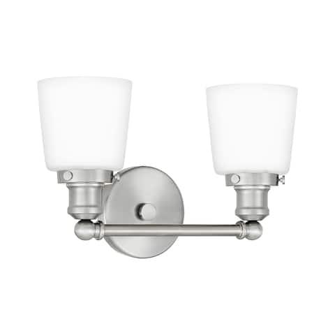 Quoizel Union 2-light Opal Etched Glass Bath Light