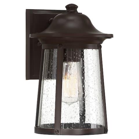 Quoizel Hogan Western Bronze and Clear 1-light Outdoor Wall Lantern
