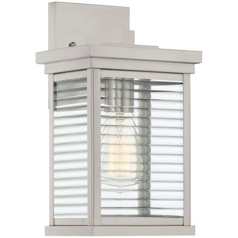 Quoizel Gardner Stainless Steel 1-light Outdoor Wall Lantern