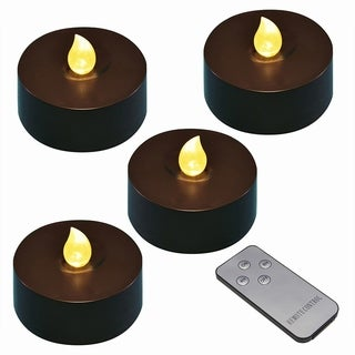 Black Battery Operated Extra Large Tea Lights- Set of 4