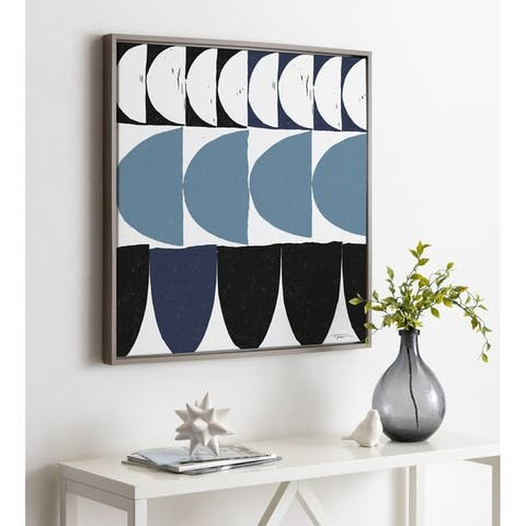 Kate and Laurel Sylvie Arches in Blue Framed Canvas by Statement Goods