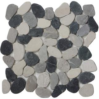 "Indonesia Flat Pebble 12""x12"" (11-Sheets)"