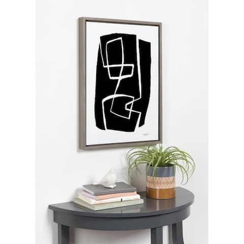 Kate and Laurel Sylvie Modern Meeting Framed Canvas by Statement Goods