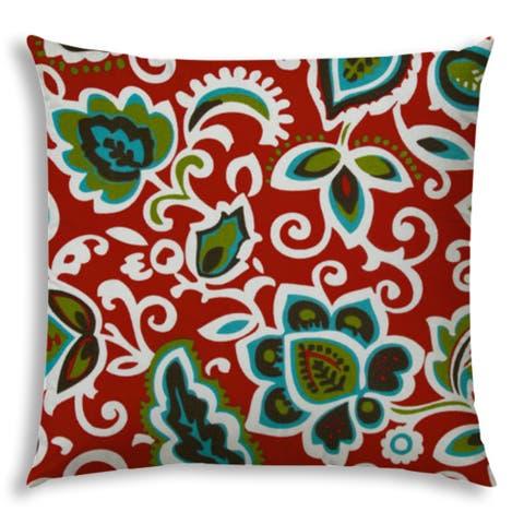 DANCING FLOWERS Jumbo Indoor/Outdoor - Zippered Pillow Cover