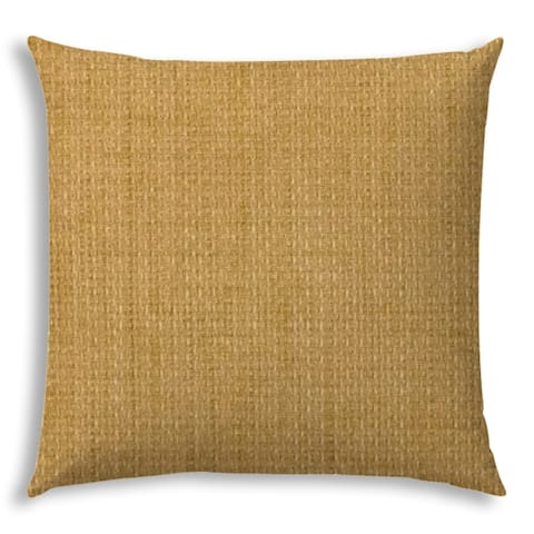 Pacifica Golden Straw Golden Straw Jumbo Indoor/Outdoor Zippered Pillow Cover by Havenside Home