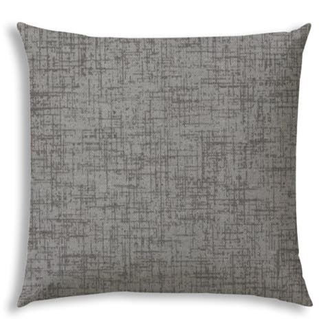 Pacifica Grey Jumbo Zippered Pillow Cover with Insert by Havenside Home