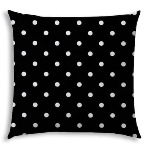 DINER DOT Black Jumbo Indoor/Outdoor - Zippered Pillow Cover