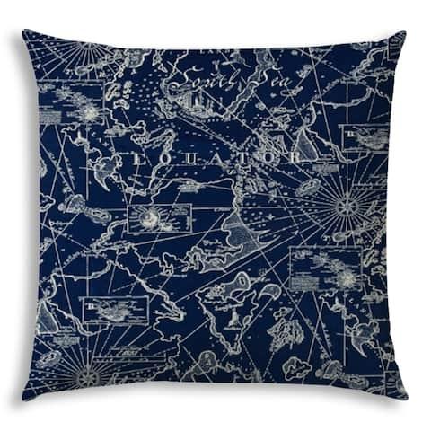 BAHAMA BREEZE Navy Jumbo Indoor/Outdoor - Zippered Pillow Cover