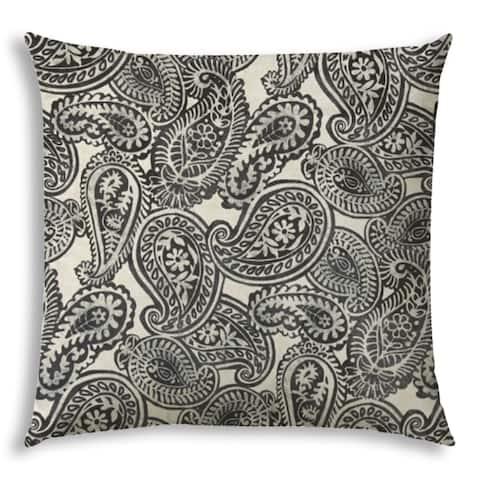 ELIO Gray Jumbo Indoor/Outdoor - Zippered Pillow Cover