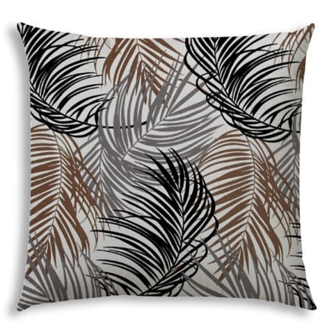 PLUME Black Jumbo -Zippered Pillow Cover with Insert