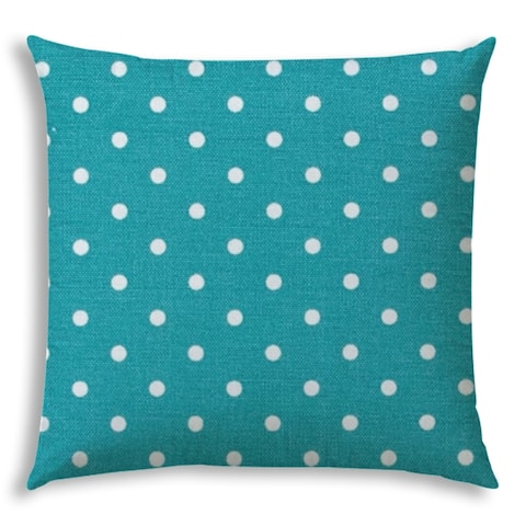 DINER DOT Turquoise Jumbo -Zippered Pillow Cover with Insert