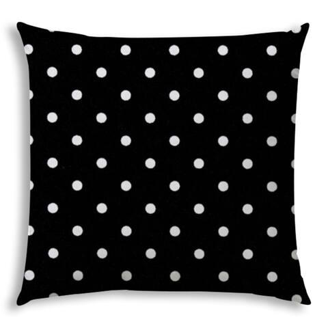 DINER DOT Black Jumbo -Zippered Pillow Cover with Insert