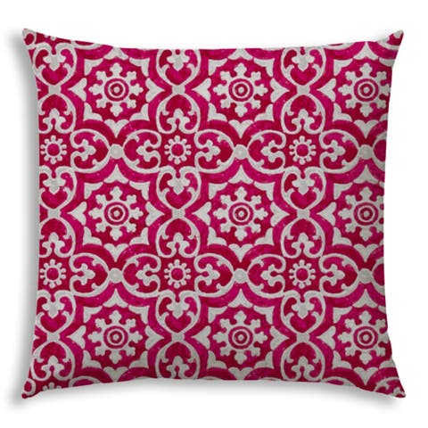 ATHENIA Raspberry Jumbo -Zippered Pillow Cover with Insert