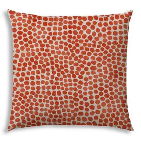 SWEET PUFF Orange Jumbo -Zippered Pillow Cover with Insert