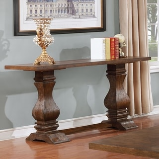Best Quality Furniture Walnut Trestle Console Table