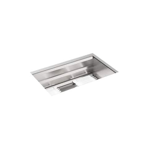 """Kohler Prolific 29"""" X 17-3/4"""" X 10-15/16"""" Undermount Single-Bowl Kitchen Sink with Accessories (K-23651-NA)"""