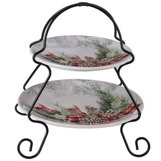 Link to Certified International Holly and Ivy 2-tier Server Similar Items in Christmas Entertaining