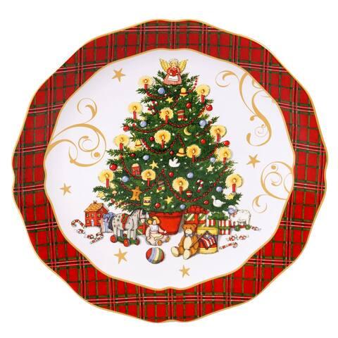 Certified International Vintage Santa 13-inch Round Platter