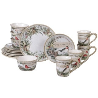 Link to Certified International Holly and Ivy 16-piece Dinnerware Set Similar Items in Christmas Entertaining