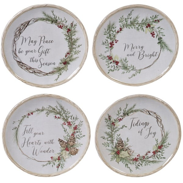 Certified International Holly and Ivy 6-inch Canape Plates, Set of 4. Opens flyout.