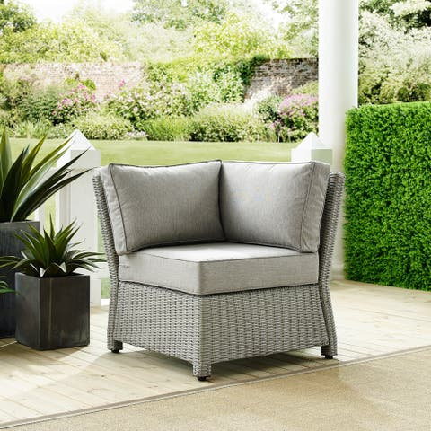 Cambridge Bay Grey Wicker Sectional Corner Chair by Havenside Home